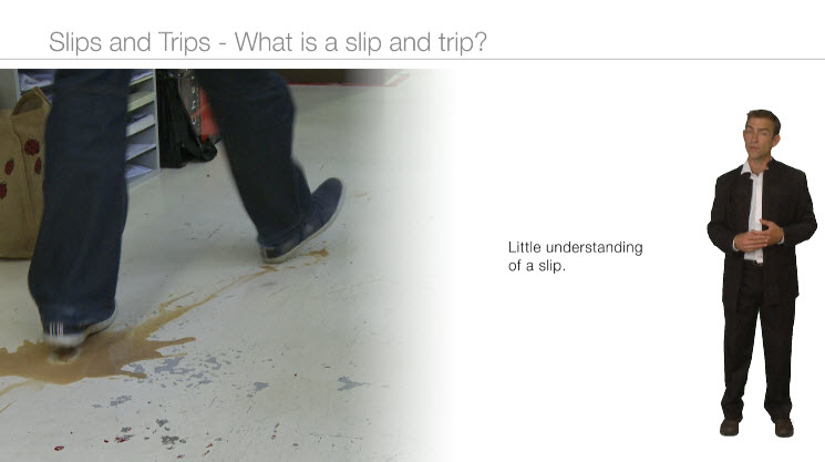Concise slips and trips training, preventing an accident at work